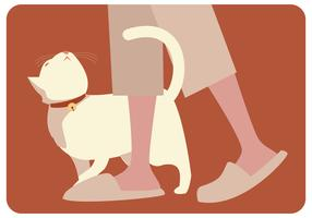Vetor de gato preguiçoso