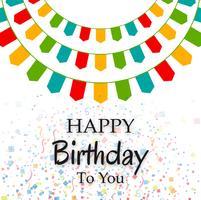 Feliz aniversário festa fundo