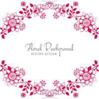 Fundo floral decorativo moderno casamento criativo vetor