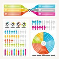 Elementos de infográfico de vetor e ilustração