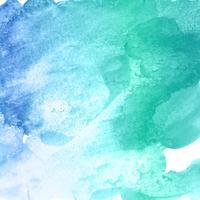 Mão desenhar fundo aquarela azul vetor