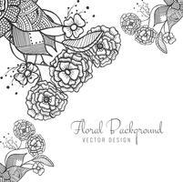 Fundo artístico floral criativo abstrato artístico vetor