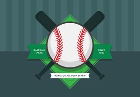 Logotipo e símbolo do parque de beisebol. Parque de beisebol. vetor