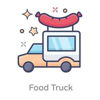 design de caminhão cachorro-quente vetor