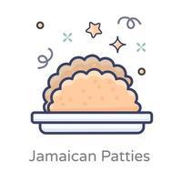 design de hambúrgueres jamaicanos vetor