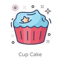 desenho de cupcake vetor