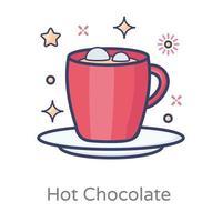 chá de chocolate quente vetor