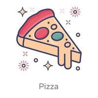 pizza e junk food vetor