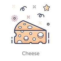 produto lácteo de queijo vetor