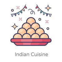 cozinha indiana doce vetor