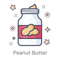 recipiente de manteiga de amendoim vetor