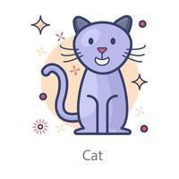 gato animal doméstico vetor