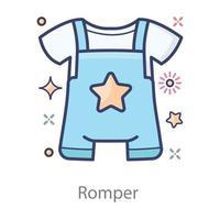 macacão vestido de bebê vetor