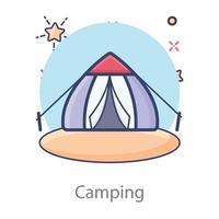 acampamento ao ar livre temporário vetor