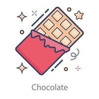 delicioso chocolate embrulhado vetor