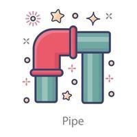 seção tubular do tubo vetor
