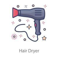 secador de cabelo eletrônico vetor