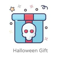 presente assustador de halloween vetor