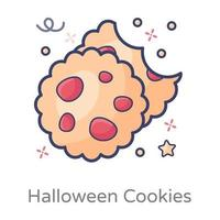 fundo branco de biscoitos vetor
