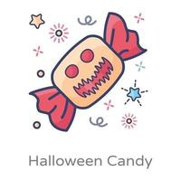 doces embrulhados de halloween vetor