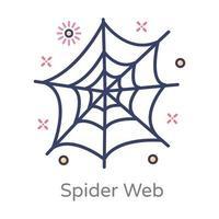 rede de aranha e teia vetor