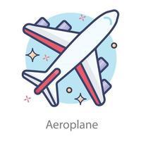carga de avião ou passageiros vetor