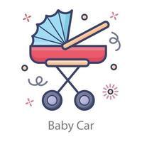 carrinho de bebê vetor