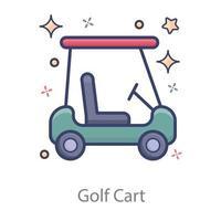 carrinho de golfe carrinho vetor