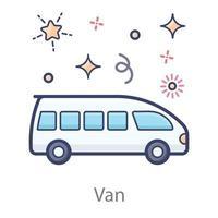 design de carrinha vetor
