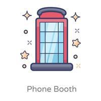 cabine telefônica pública vetor