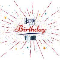 Feliz aniversário cartão fundo criativo vetor