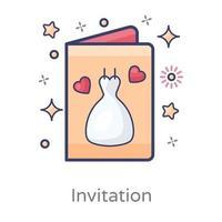 chá de panela ou convite de casamento vetor