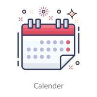 lista de calendário de planejado vetor