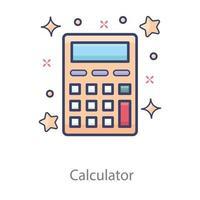 calculadora equipamento matemático vetor