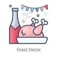 comida de decoração faest vetor