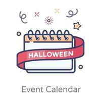 design de calendário de eventos de halloween vetor