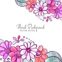 Fundo floral decorativo colorido abstrato vetor