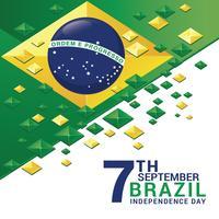 Celebrando o Dia da Independência do Brasil Cartões vetor