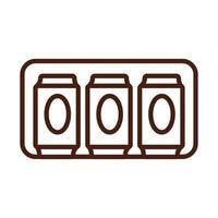 latas de cerveja bebem estilo de linha do dia internacional vetor