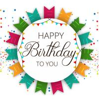 Resumo feliz aniversário celebração vector fundo