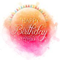 Cartão de aniversário feliz aniversário confete colorido backgrou vetor