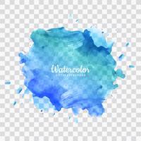 Fundo azul aquarela respingo vetor