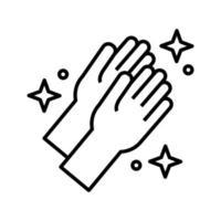 ícone de estilo de linha de lavagem de mãos vetor