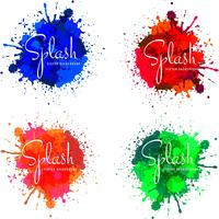 Desenho de respingo colorido aquarela moderna vetor