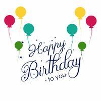 Feliz aniversário cartão decorativo fundo colorido vetor
