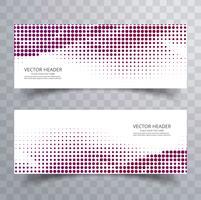 Conjunto de cabeçalho de meio-tom colorido moderno vetor