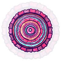 Fundo moderno decorativo mandala colorida