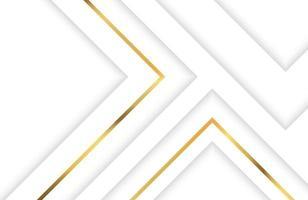 base de tecnologia com elemento geométrico branco e dourado. desenho geométrico elegante moderno abstrato com linha dourada vetor