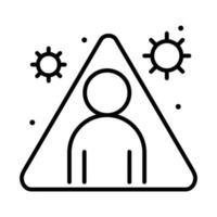 covid 19 coronavirus distanciamento social prevenção proteção dicas contra surto espalhando ícone de estilo de linha de vetor