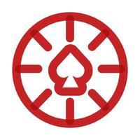 fichas de cassino com ícone de estilo de linha multiplicar espadas vetor